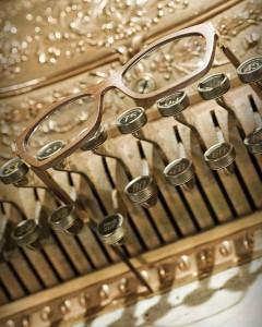 Gold and Wood Designer Eyewear
