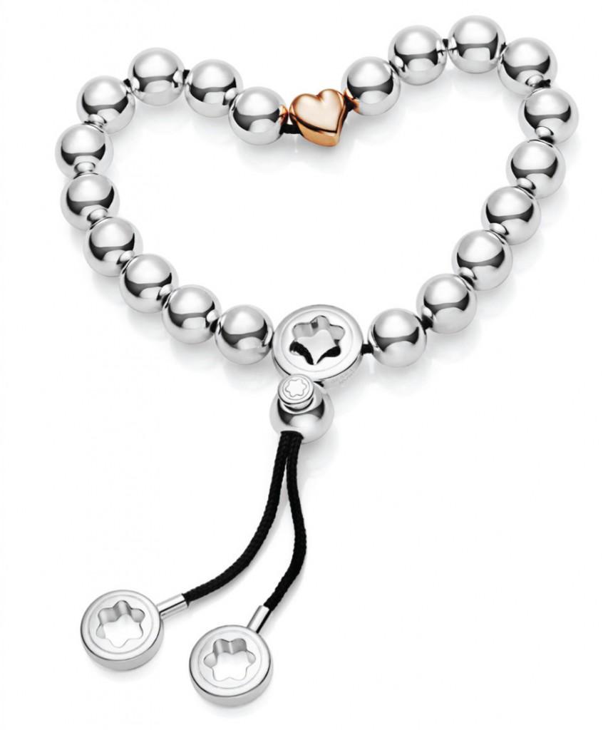 Montblanc Silver Valentine's Bead Bracelet