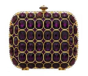 Tulullah Ty Baroque Purple Clutch