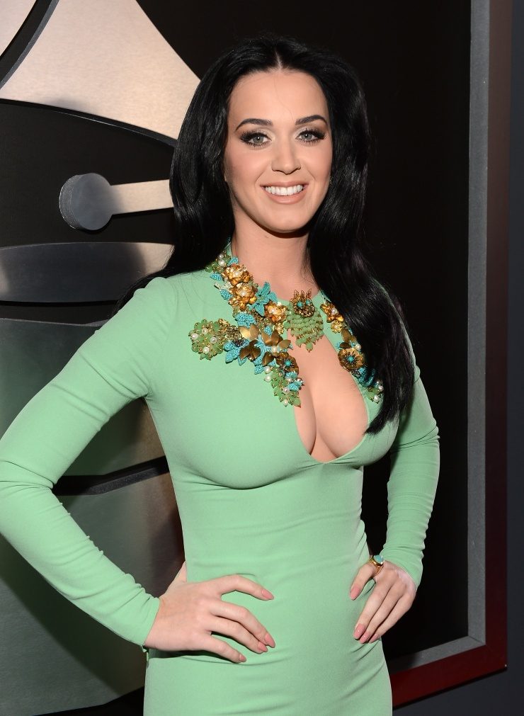 Katy Perry arrives at the 55th GRAMMYS Awards on Feb. 10 in Los Angeles