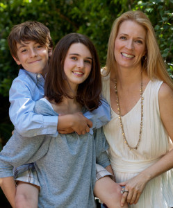 Kathleen Laccinole with her Children
