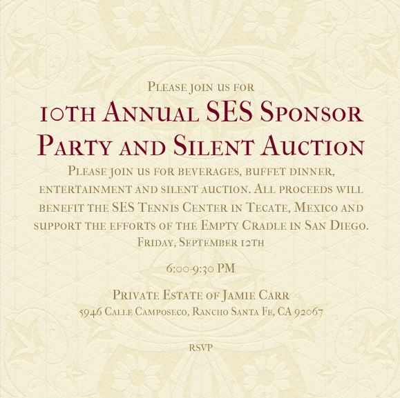 SES Sponsor Party 2014 Invite