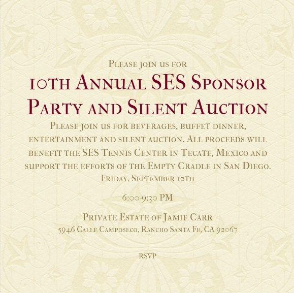 SES Sponsor Party 2014 Invite