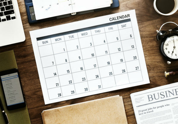 Office Desk With Calendar